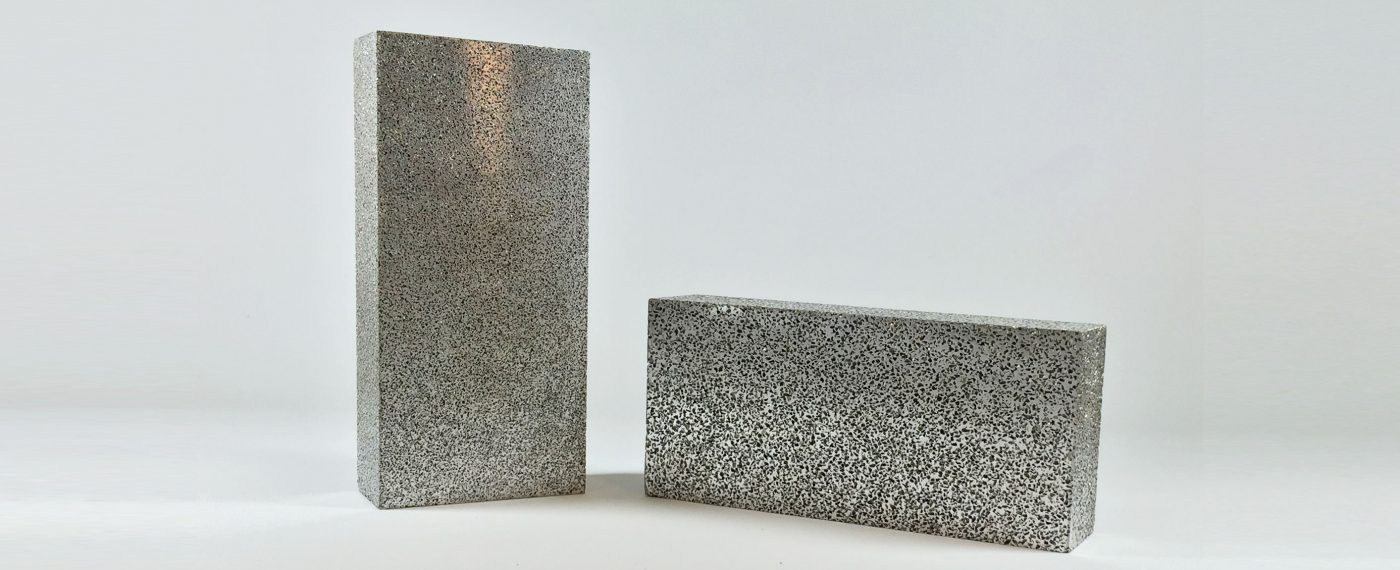 poröses Aluminium, sintermetall, metallschaum